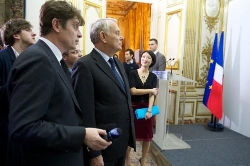 Inauguration par le Premier ministre du nouveau portail data.gouv.fr le 18 décembre 2013