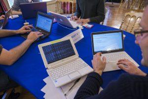 Groupe de travail au Datacamp de l'Assemblée nationale