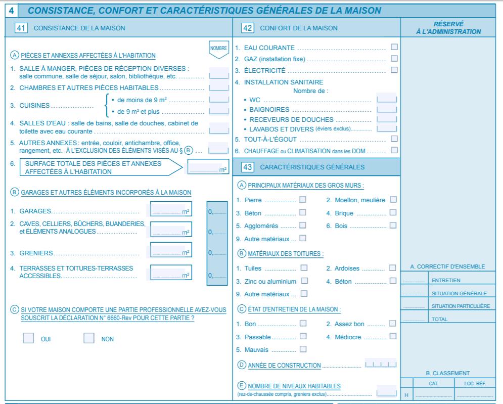Extrait d'un formulaire CERFA