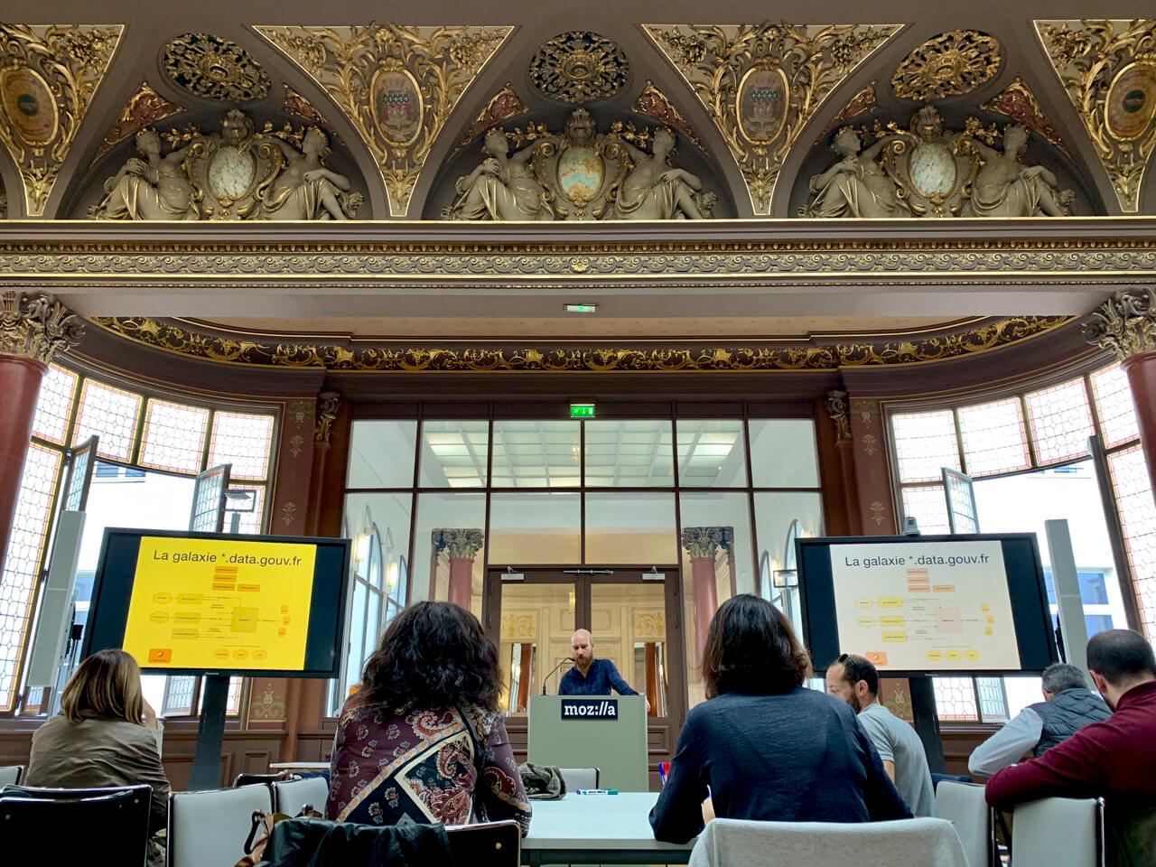 Photo prise à la fondation Mozilla lors de l'atelier consacré à data.gouv.fr