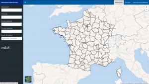 La page d'accueil de l'application de présentations des données DVF