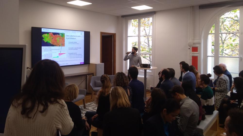 Présentation du projet de l'Agence française pour la biodiversité lors de la semaine de l'innovation publique au Lieu de la transformation publique le 28 novembre 2019.